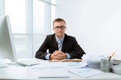 Young financial manager Royalty Free Stock Photography