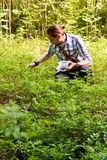 Young Finnish man in the forest Stock Image