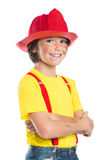 Young firefighter smiling Stock Photos