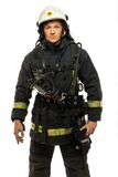 Young firefighter Stock Photo