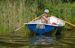 Young fisherman Stock Photo