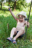 Young fisherman Royalty Free Stock Photography