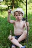 Young fisherman Royalty Free Stock Photos