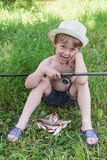 Young fisherman Stock Photography