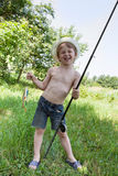 Young fisherman Royalty Free Stock Image