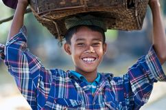 Young fisherman, Myanmar Royalty Free Stock Photos