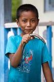 Young Fisherman at Rhi Lake, Myanmar (Burma) Stock Photos