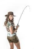 Young fisherwoman Royalty Free Stock Photo