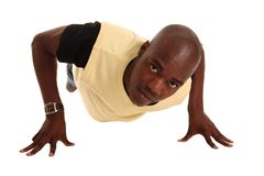 Young Fit African Man Stock Photo