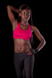 Young fit african woman Stock Image