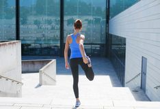 Free Young, Fit And Sporty Girl Running Up The Stairs. Fitness, Sport, Urban Jogging And Healthy Lifestyle Concept. Royalty Free Stock Photos - 109686658