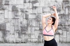 Young fit brunette woman Stock Photography