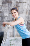 Young fit brunette woman Stock Photo