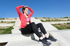 Young fit brunette woman Royalty Free Stock Images