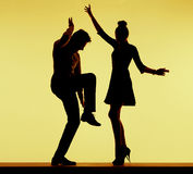 Young fit couple dancing at the party Royalty Free Stock Photography