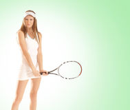 A young and fit female tennis player Royalty Free Stock Images