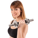 Young fit girl working out Stock Photos