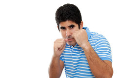 Young fit latin man boxing Stock Images