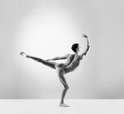 Young and fit male ballet dancer in a studio Royalty Free Stock Images