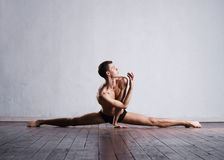 Young and fit modern dancer performing a move Stock Photography