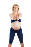 Young fit pregnant woman Stock Photo