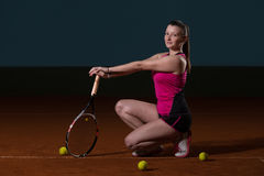 Young Fit Tennis Player Stock Photography