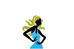Illustration of young fit woman  Royalty Free Stock Photo