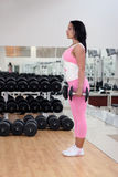 Young fit woman. Exercising in the gym Stock Image