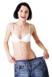 Young fit woman with big pants Stock Photos