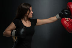 Young Fit Woman Fighting A Man Royalty Free Stock Photos