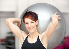 Young fit woman at the gym Royalty Free Stock Photos