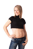 Young fit woman with toned body Stock Images
