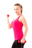 Young fit woman training Stock Photos