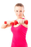 Young fit woman working out Stock Photo