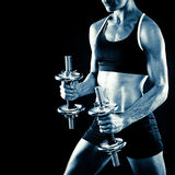 Young fit woman working out Stock Image