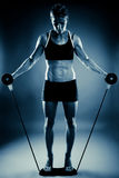 Young fit woman working out Royalty Free Stock Photography