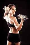 Young fit woman working out Stock Photos