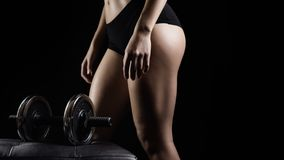 Young fitness blond woman Royalty Free Stock Photos