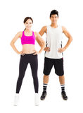 Young fitness couple standing together Royalty Free Stock Photos