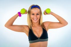 Young fitness instructor girl Royalty Free Stock Photography