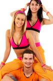 Young fitness instructors Stock Photo