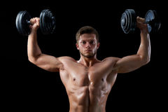 Young fitness man in studio Royalty Free Stock Image