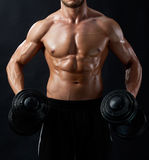 Young fitness man in studio Stock Image