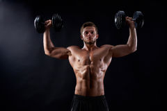 Young fitness man in studio Royalty Free Stock Photography