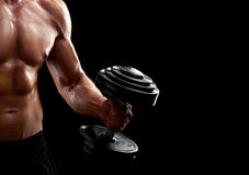 Young fitness man in studio Stock Photography