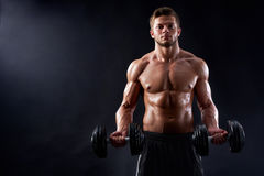 Young fitness man in studio Stock Photos