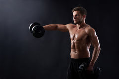 Young fitness man in studio Royalty Free Stock Photo