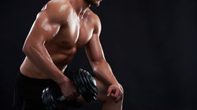 Young fitness man in studio Royalty Free Stock Photos