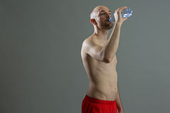 Young fitness man thirsty Royalty Free Stock Images