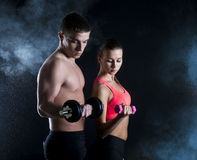 Fitness portrait Royalty Free Stock Photos